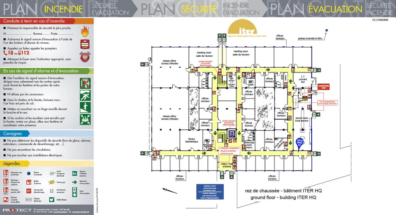 plan d vacuation plan d intervention protect marseille le sp cialiste sud est du plan de. Black Bedroom Furniture Sets. Home Design Ideas